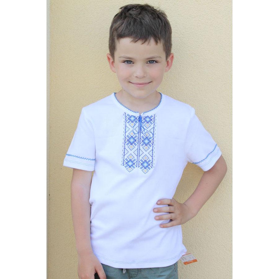 Купити трикотажну вишиванку хлопчачу на довгий чи короткий рукав з ... f19cd8262b873