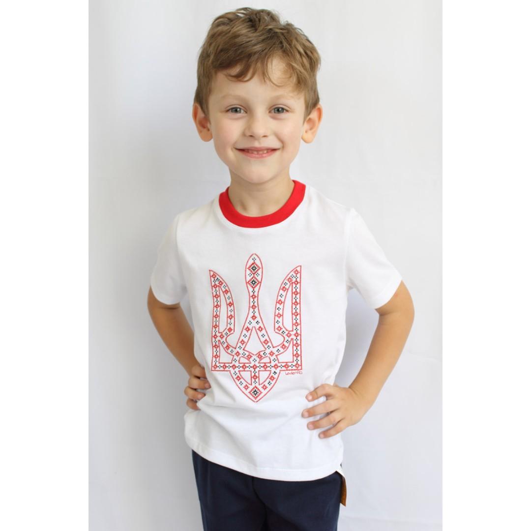 Купити трикотажну футболку з тризубом acd54d1c4479b