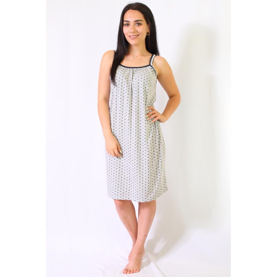 Купити літню нічну сорочку жіночу на бретелі з куліру з малюнком 8d60a5e7c7813